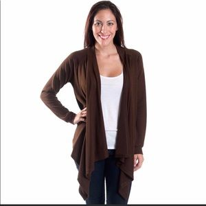 Sweaters - Cascade cardigan super soft Chocolate Brown